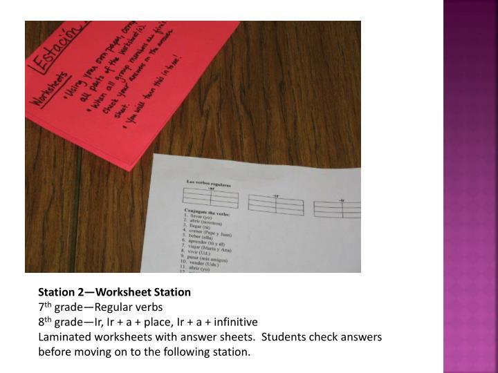 Station 2—Worksheet Station