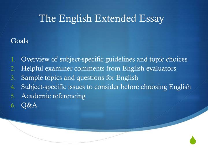 extended essay titles