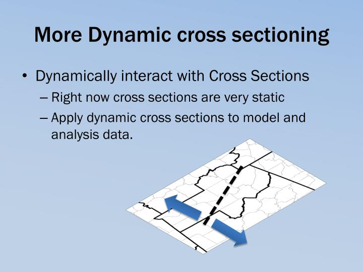 More Dynamic cross sectioning