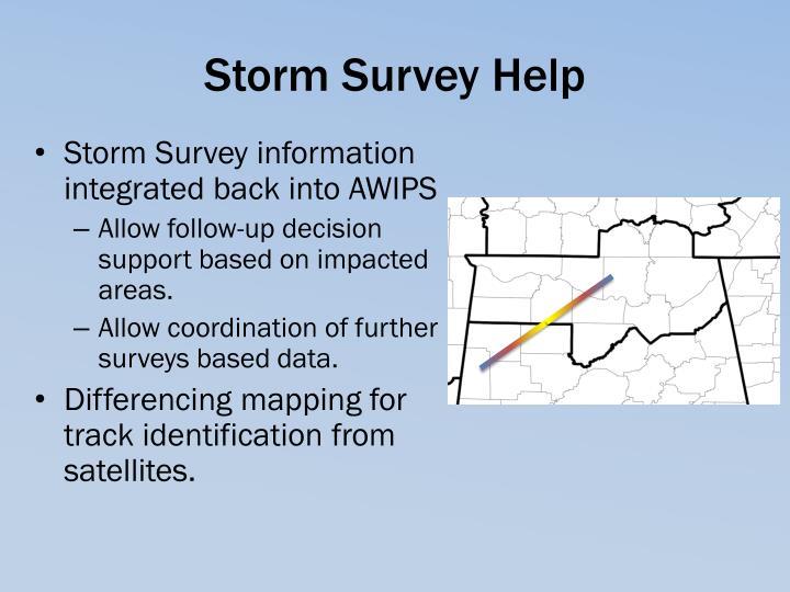 Storm Survey Help