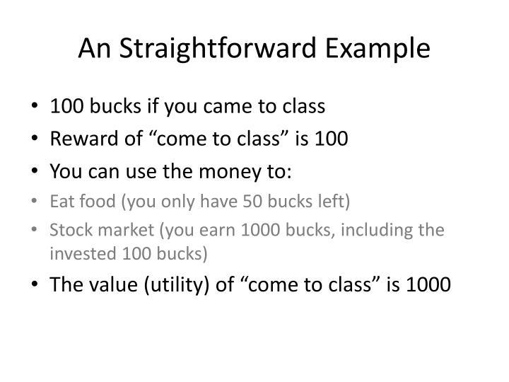 An Straightforward Example