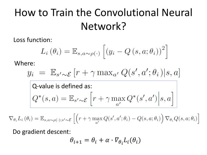 How to Train the Convolutional Neural Network?