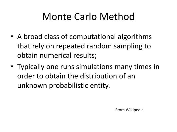 Monte Carlo Method