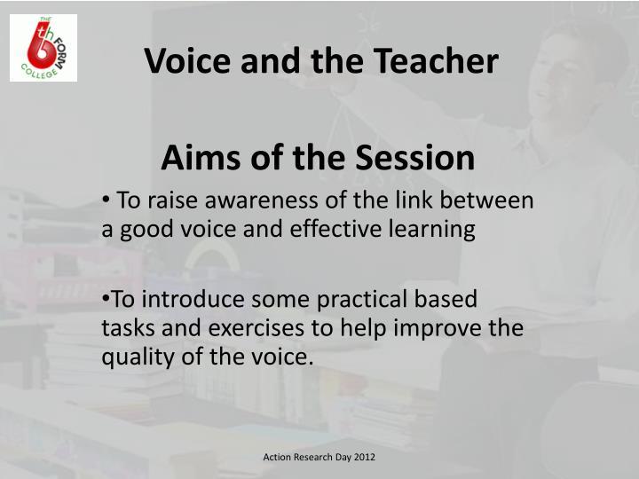 Voice and the Teacher