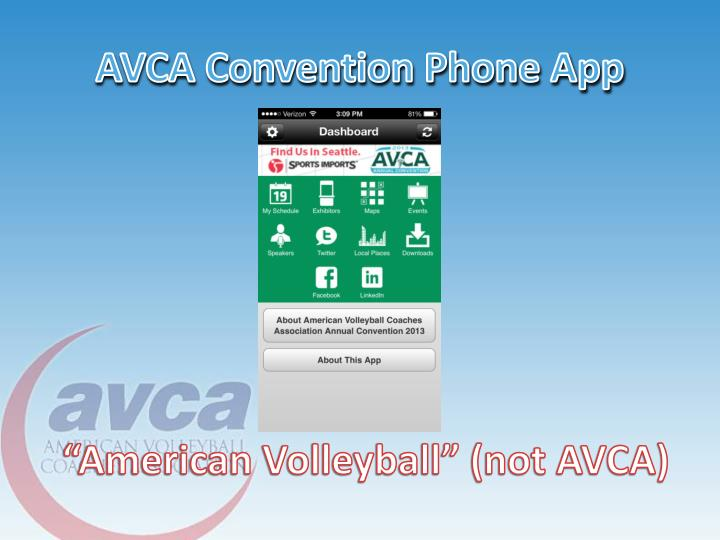 AVCA Convention Phone App