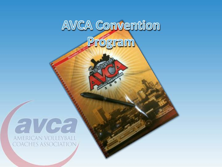 AVCA Convention