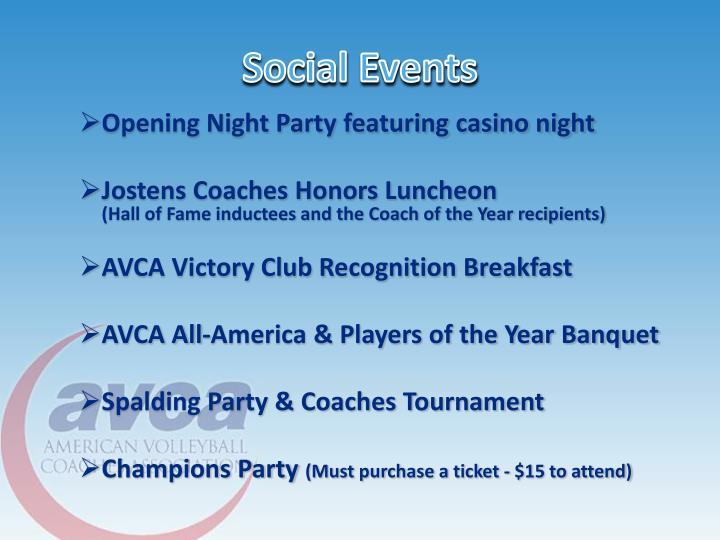 Social Events