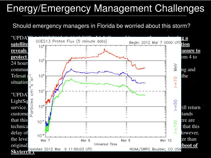 Energy/Emergency Management Challenges