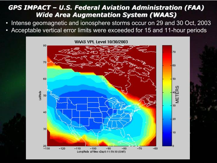 GPS IMPACT – U.S. Federal Aviation Administration (FAA)