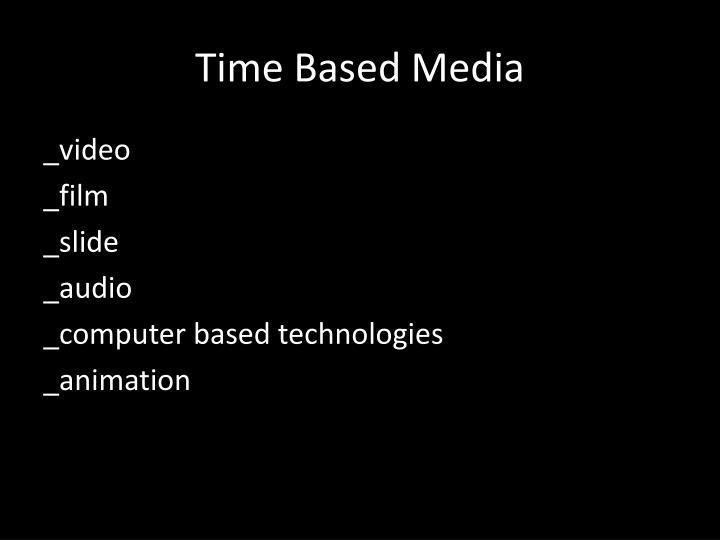 Time Based Media