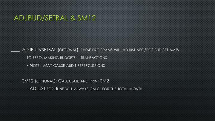 ADJBUD/SETBAL & SM12