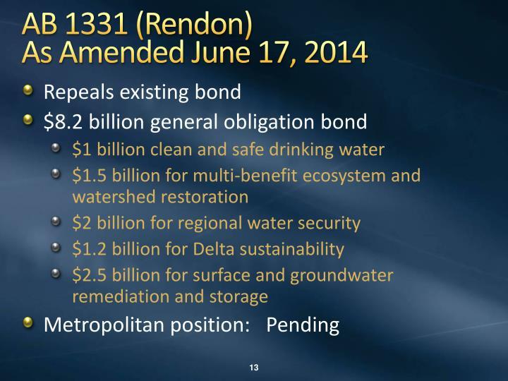 AB 1331 (Rendon)