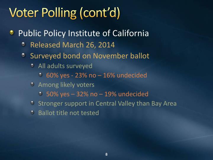 Voter Polling (cont'd)