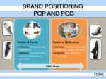 brand positioning pop and pod