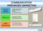 communication web based marketing
