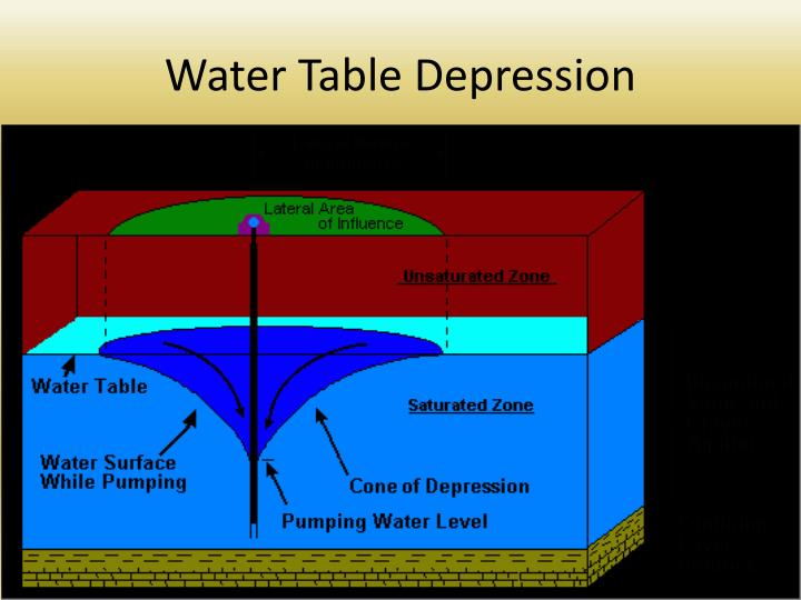 Water Table Depression