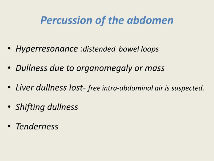 Percussion of
