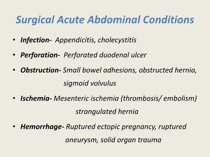 Surgical Acute Abdominal Conditions