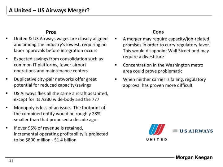 A United – US Airways Merger?
