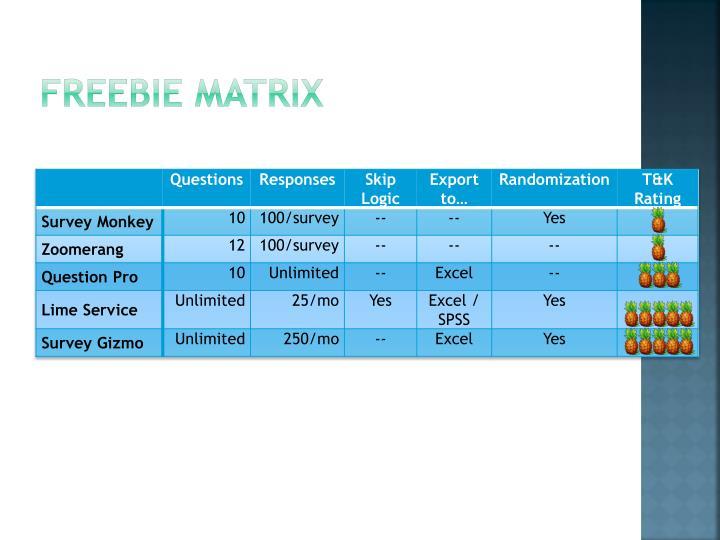 Freebie Matrix