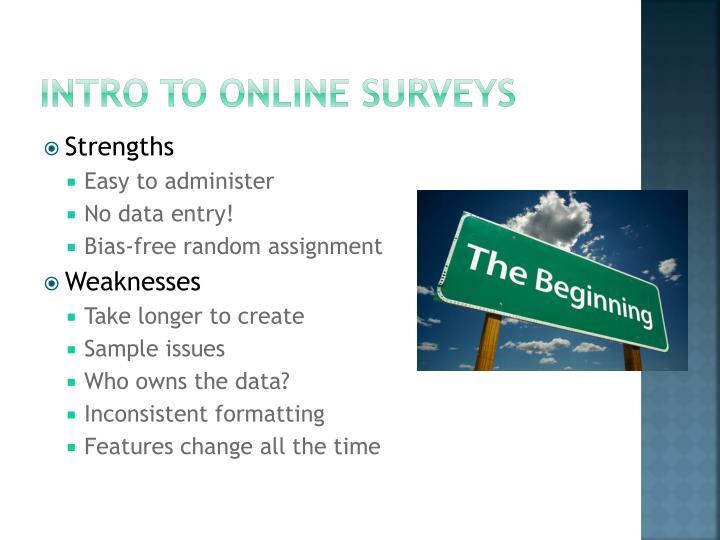 Intro to online surveys