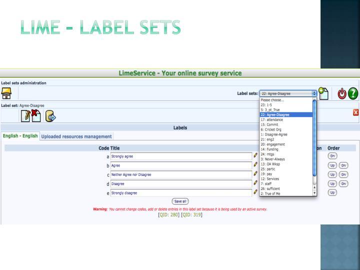 Lime – Label sets