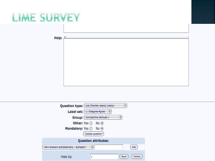Lime Survey