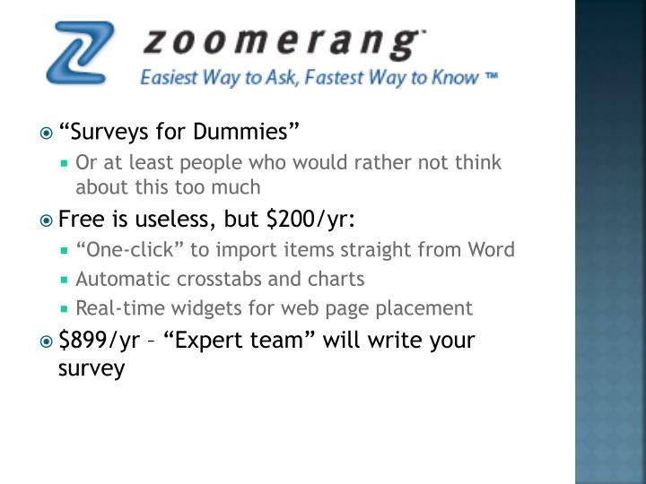 """Surveys for Dummies"""