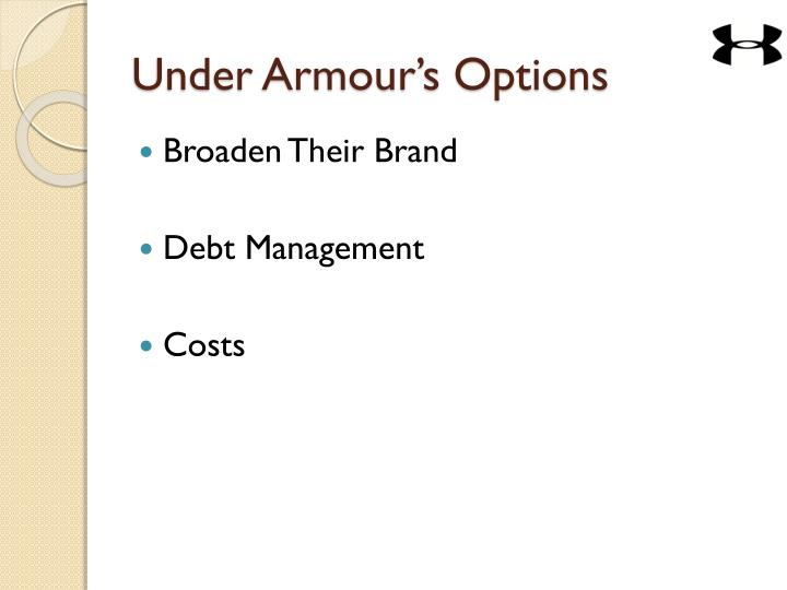 Under Armour's Options