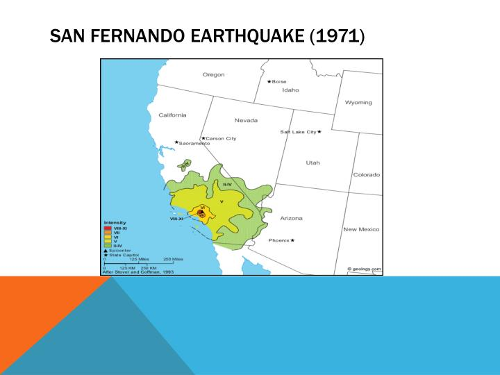 SAN FERNANDO EARTHQUAKE (1971)