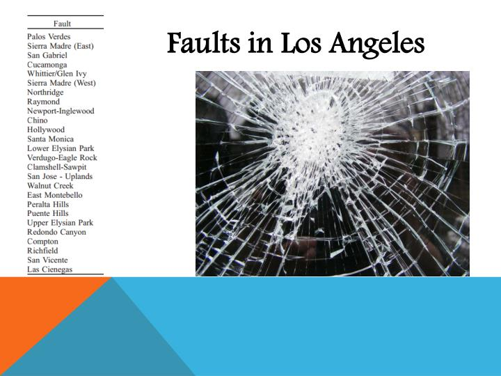 Faults in Los Angeles