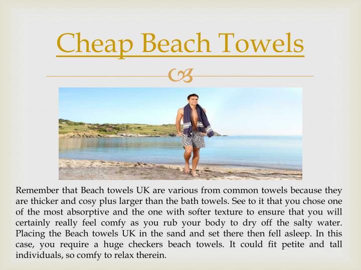 Cheap Beach Towels