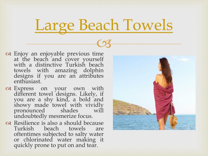 Large beach towels