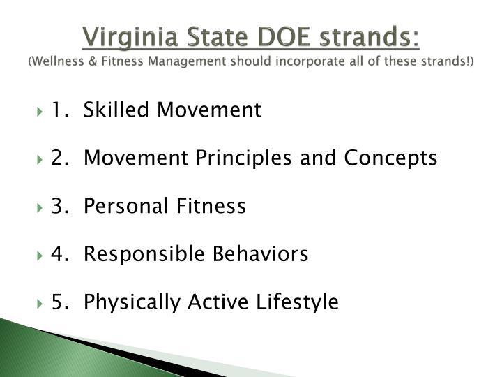 Virginia State DOE strands: