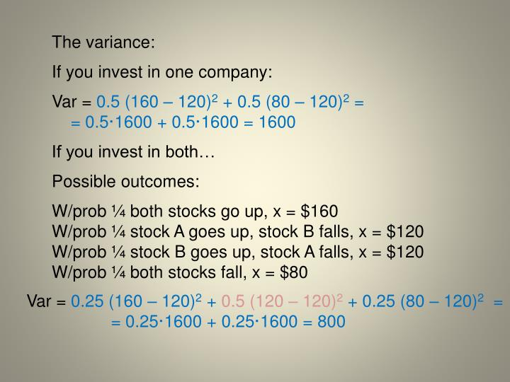 The variance: