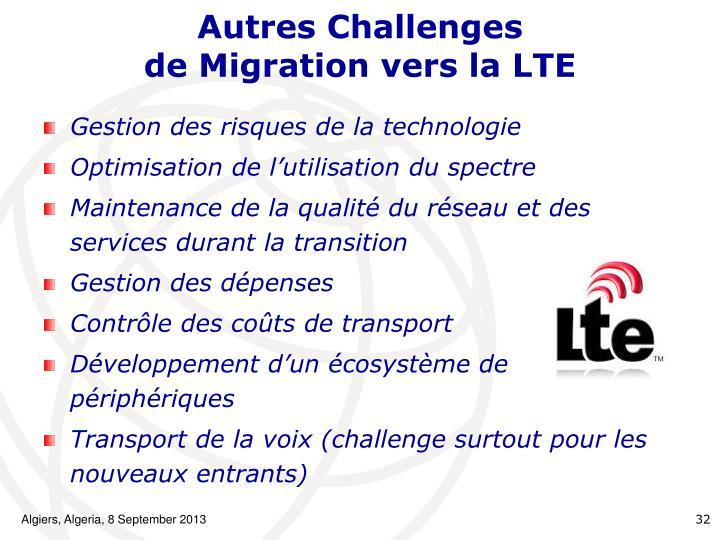 Autres Challenges