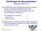 challenges de normalisation cas de l uit 1