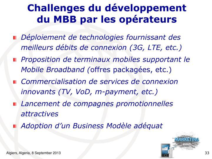 Challenges du développement