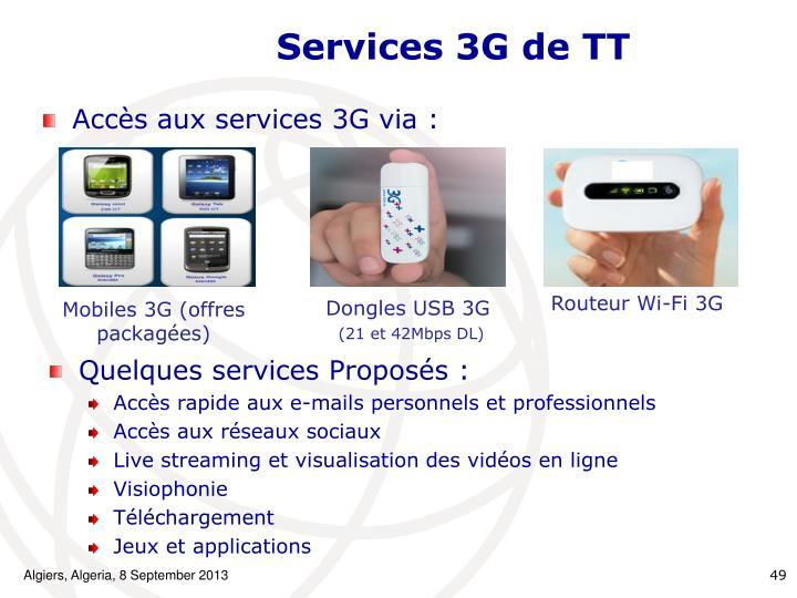 Services 3G de TT