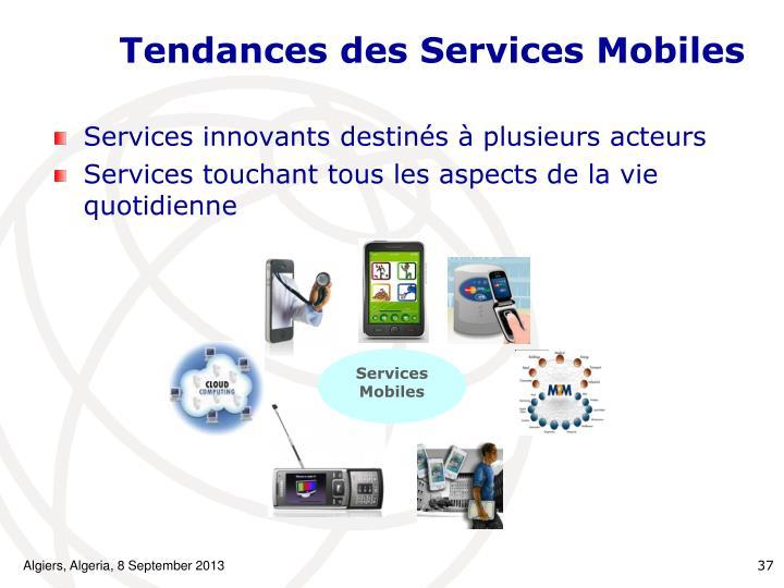 Tendances des Services Mobiles