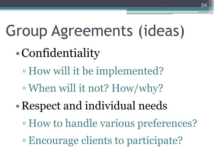 Group Agreements (ideas)