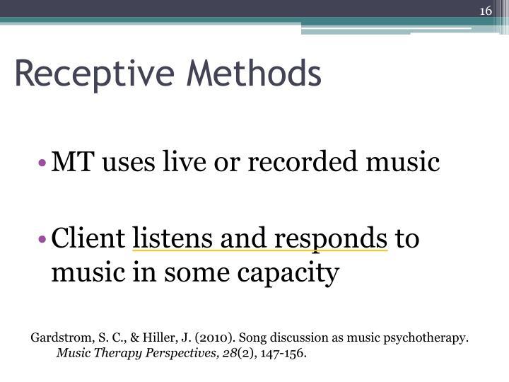 Receptive Methods