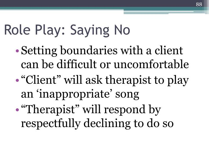 Role Play: Saying No