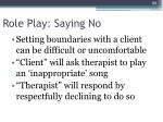 role play saying no