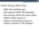 small group role play