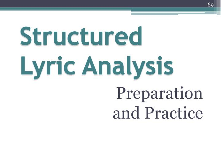 Structured Lyric Analysis