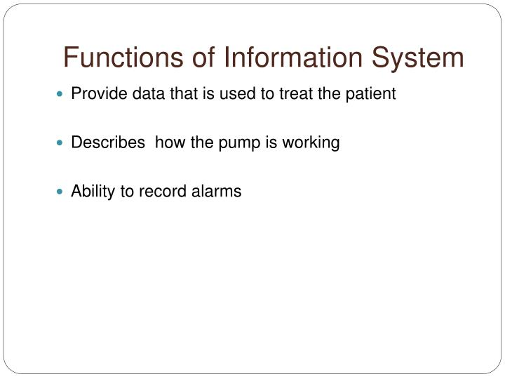 Functions of Information System