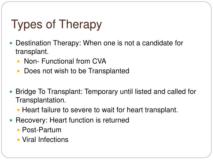Types of Therapy