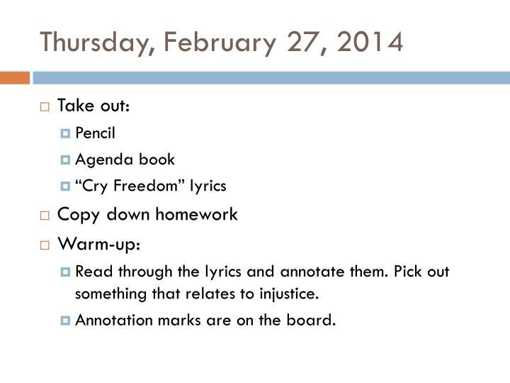 Thursday, February 27, 2014