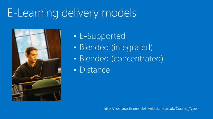 E-Learning delivery models